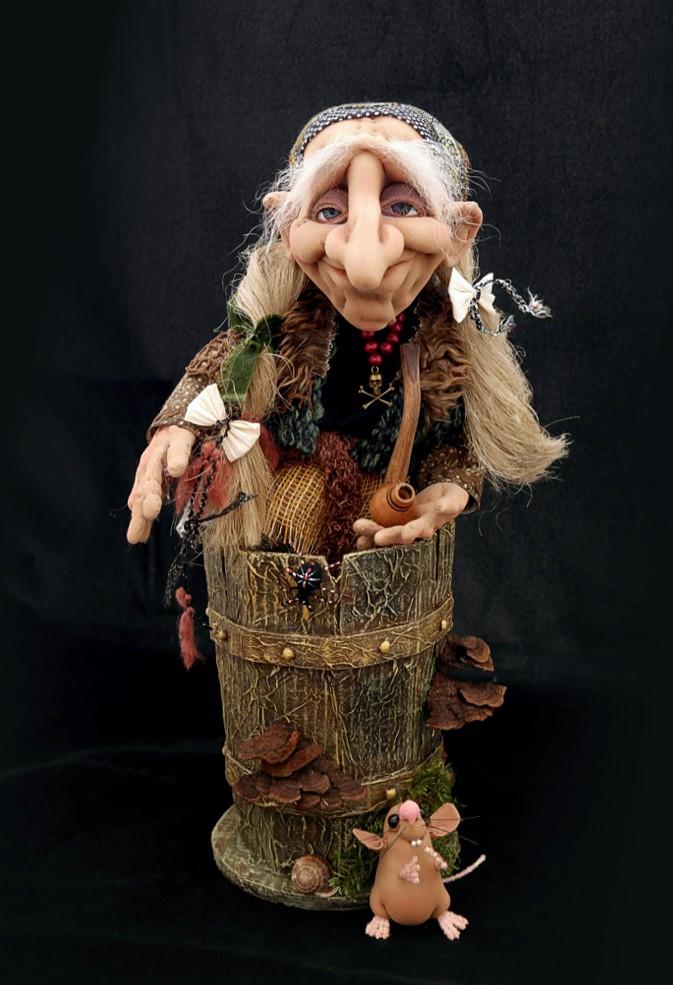 Кукла на руку баба яга своими руками 37